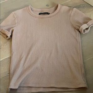 Abercrombie and Fitch pink textured tee shirt